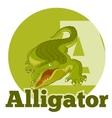 ABC Cartoon Alligator2 vector image