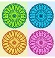 Color Floral Mandala Set vector image