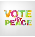 Vote for peace vector image