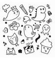 funny animal doodle design vector image