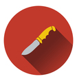 Icon of hunting knife ui colors vector image
