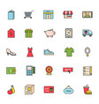 thin lines shop store delivery service web icons vector image