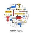 Work Tools Set vector image