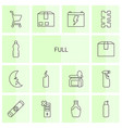 14 full icons vector image vector image