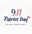 9 11 partiot day vintage banner vector image vector image