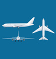 airplane on blue background industrial blueprint vector image vector image