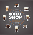 all day with coffee - coffee shop banner vector image vector image