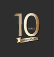 anniversary celebration design with gold number vector image vector image