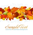 autumnal seamless horizontal background vector image