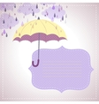 background for messages with a yellow umbrella vector image vector image