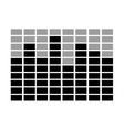black and grey squares scale graphic vector image vector image