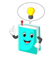 book cartoon pointing with his finger vector image vector image