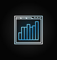 browser with bar chart line icon or design vector image