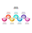 business data visualization abstract diagram with vector image