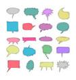chat bubble doodle colorful element set colorful vector image