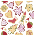 christmas cookie vector image