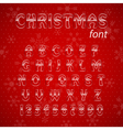 Christmas glass alphabet vector image