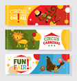 Circus banners with animals vector image vector image