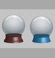 crystal ball design vector image vector image