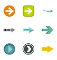 Cursor icons set flat style vector image vector image