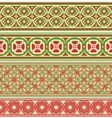 Decorative seamless borders vector image