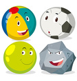 Different kind of round objects vector image vector image