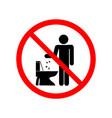 do not litter in toilet sign vector image