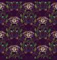 embroidery baroque seamless pattern violet vector image vector image