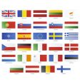 european union modern style flags vector image vector image