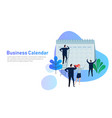 flat business people planning and scheduling vector image vector image