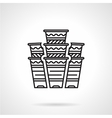 Flat line disposable cups icon vector image vector image