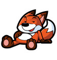 full fox mascot vector image