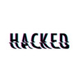 hacked glitch text vector image vector image