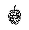 hand drawn hop emblem icon label logo vector image