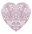 heart with valentines decorative elements vector image