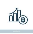 increasing growth bitcoin icon vector image vector image