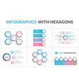 infographic templates with hexagons vector image vector image