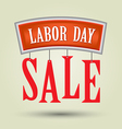 Labor day sale vector image