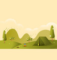 landscapehiking and camping flat vector image vector image