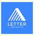 letter a line logo vector image