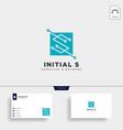 letter s digital network creative logo template vector image
