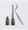 liquid eyeliner set eyeliner product mockup for vector image vector image