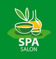 logo attributes for spa salon vector image vector image