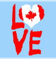 love canada america vintage national flag in vector image vector image