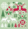 nordic motifs vector image