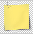 paper mockup yellow note vector image vector image