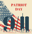 patriot day in usa square banner card with the vector image vector image