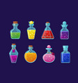 potions cartoon set magic vector image vector image