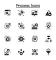 process data analysis icon set vector image vector image