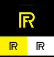 r and f monogram logo letters vector image vector image